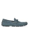 Blaue Veloursleder-Slipper