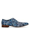Blaue Schnürschuhe mit Mosaik