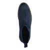 Dunkelblaue Chelsea Boots aus Veloursleder
