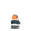 Mehrfarbige Veloursleder-Sneaker mit blauen Details