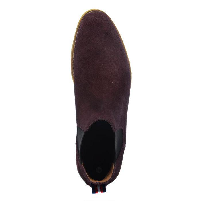 Bordeauxrote Chelsea Boots