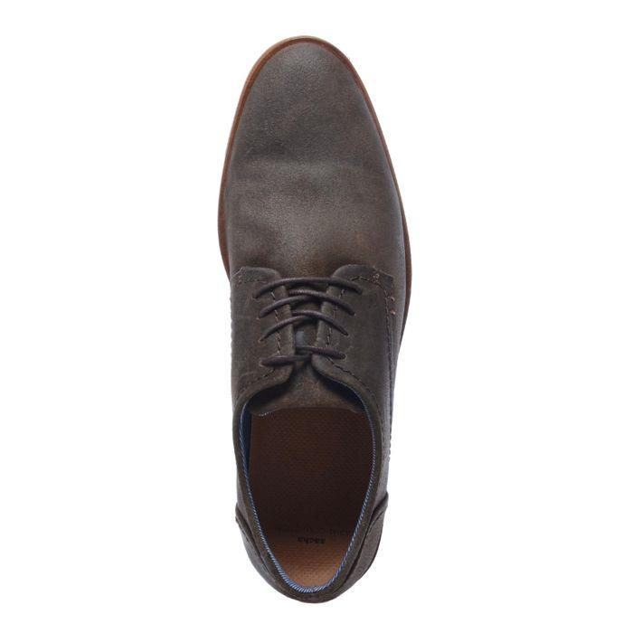 Braune Schnürschuhe aus Veloursleder