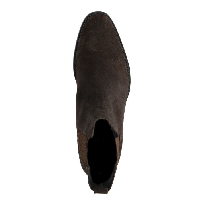 Braune Chelsea-Boots aus Wildleder