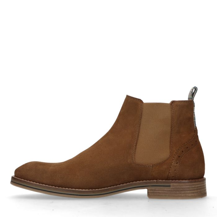Cognacfarbene Chelsea-Boots