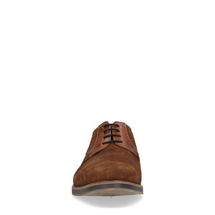 Braune Schnürschuhe mit Muster