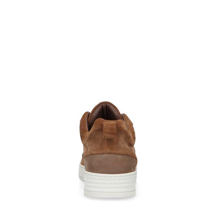 Braune Veloursleder-Sneaker
