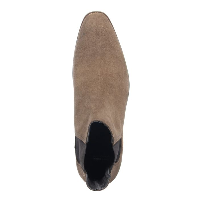 Spitze camelbraune Chelsea Boots