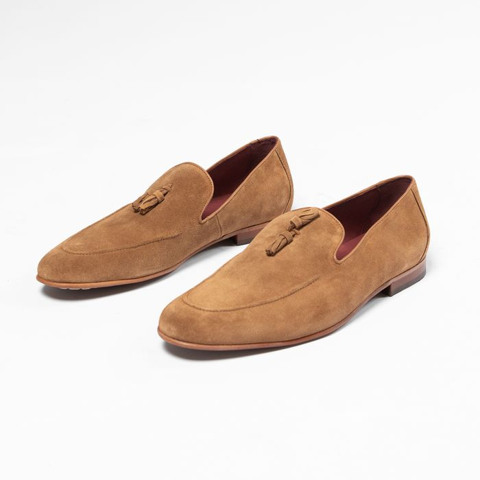 Camelfarbene Loafer