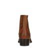 Cognacfarbene Westernstiefel aus Veloursleder