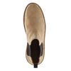 Kamelbraune Chelsea Boots aus Veloursleder