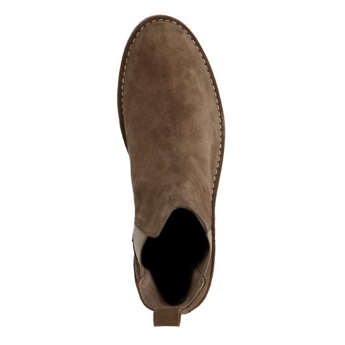Beigefarbene Chelsea-Boots aus Wildleder