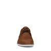 Cognacfarbene Schnürschuhe aus Veloursleder