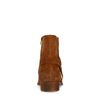 Cognacfarbene Chelsea Boots mit Schnalle