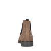Cognacfarbene Chelsea Boots aus Veloursleder