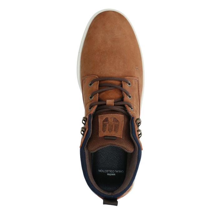 Cognacfarbene Veloursleder-Sneaker