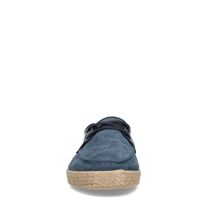 Dunkelblaue Sneaker mit kurzem Schaft