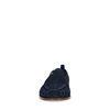 Dunkelblaue Veloursleder-Loafer mit Flecht-Detail