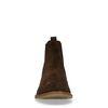 Braune Chelsea Boots aus Veloursleder