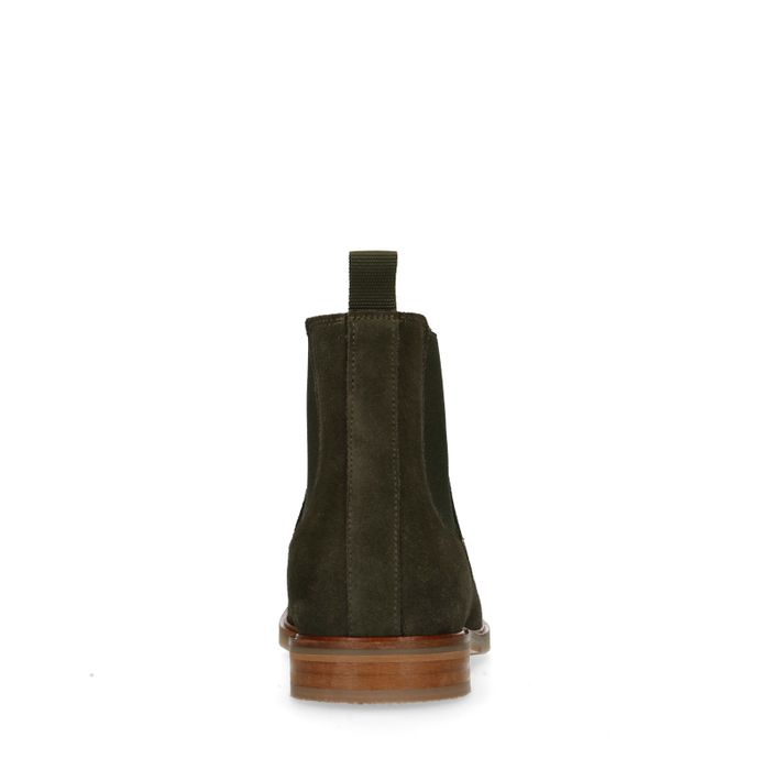 Grüne Chelsea Boots aus Veloursleder