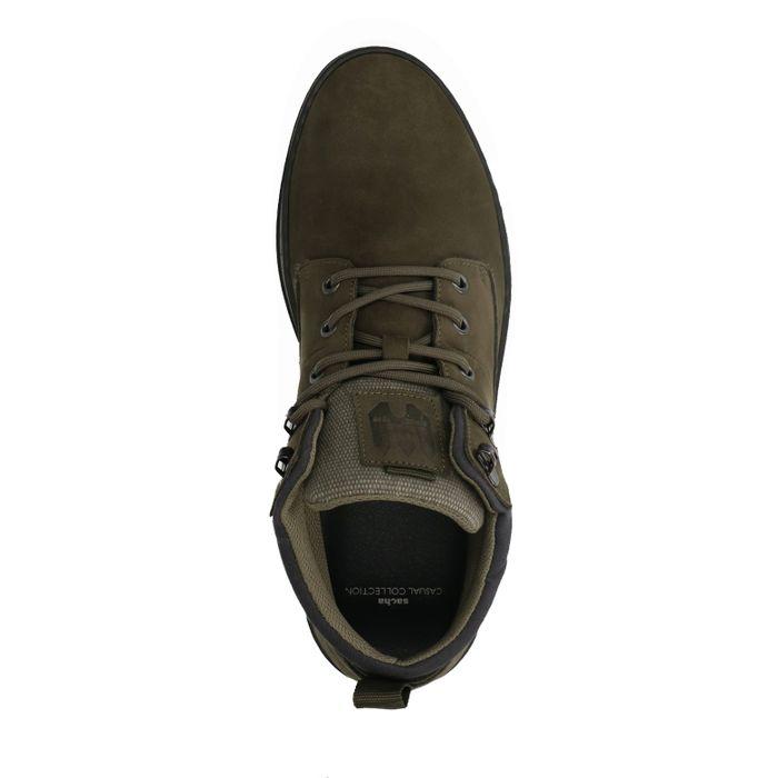 Grüne Veloursleder-Sneaker
