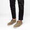 Grüne Veloursleder-Loafer