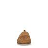 Braune Loafer mit Flecht-Struktur