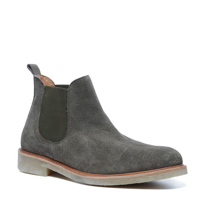 Khakigrüne Chelsea Boots