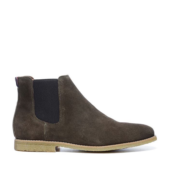 Grüne Chelsea Boots