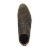 Veloursleder-Schnürschuhe mit hohem Schaft grün