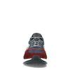 Mehrfarbige Veloursleder-Sneaker mit roten Details