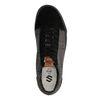 Schwarze Sneaker mit kurzem Schaft und Rautenmuster