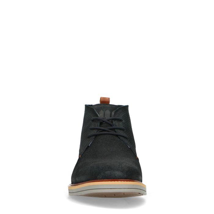 Schwarze Schnürboots aus Veloursleder