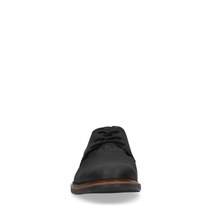 Schwarze Schnürschuhe aus Wildleder