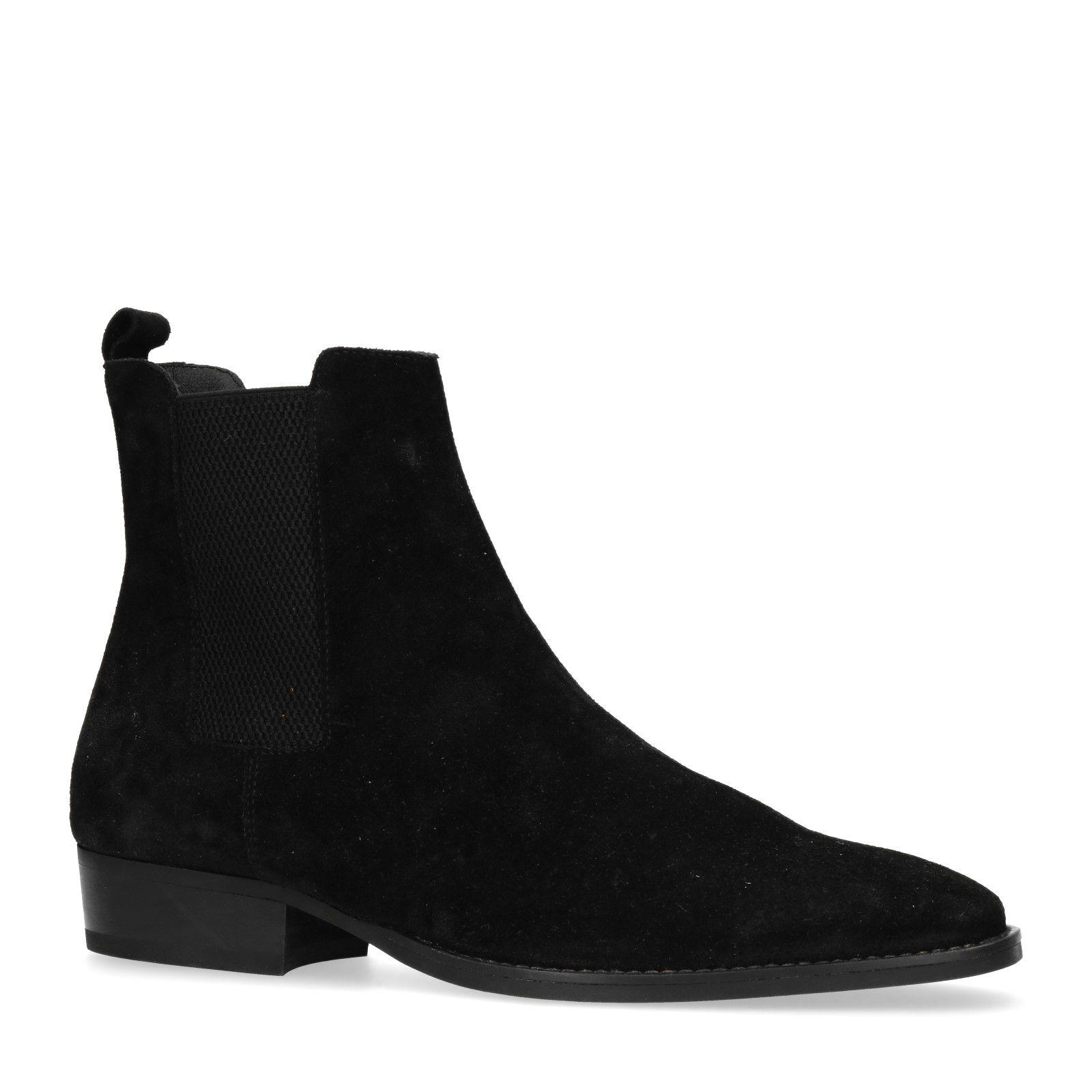 Welche Rucksäcke mit schwarzer Chelsea Boots aus Wildleder