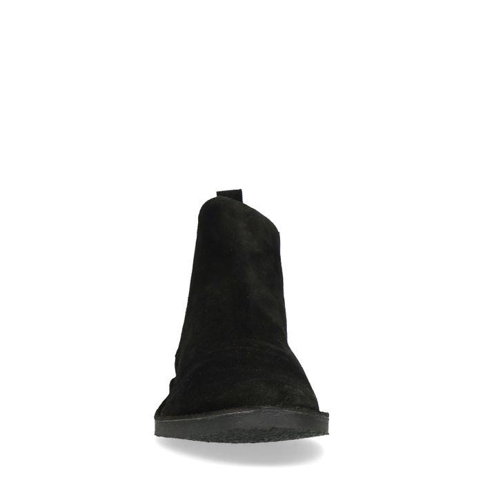 Schwarze Chelsea-Boots aus Wildleder