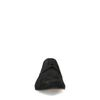 Schwarze Veloursleder-Schnürschuhe mit Muster