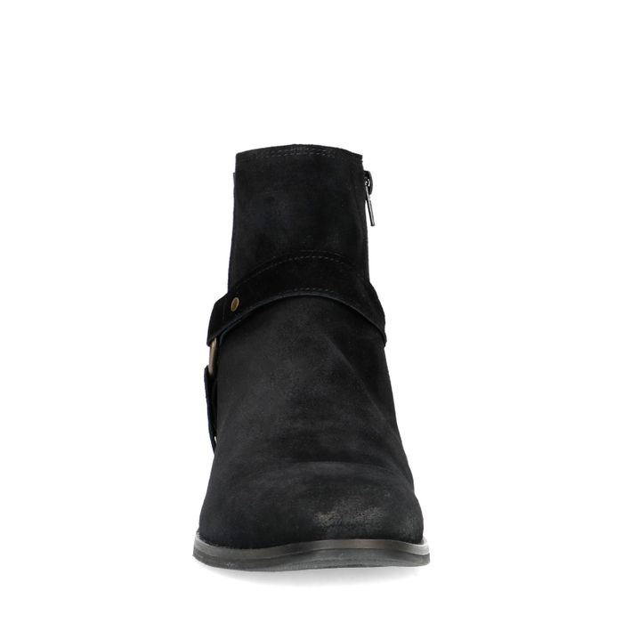 Schwarze Chelsea Boots mit Schnalle