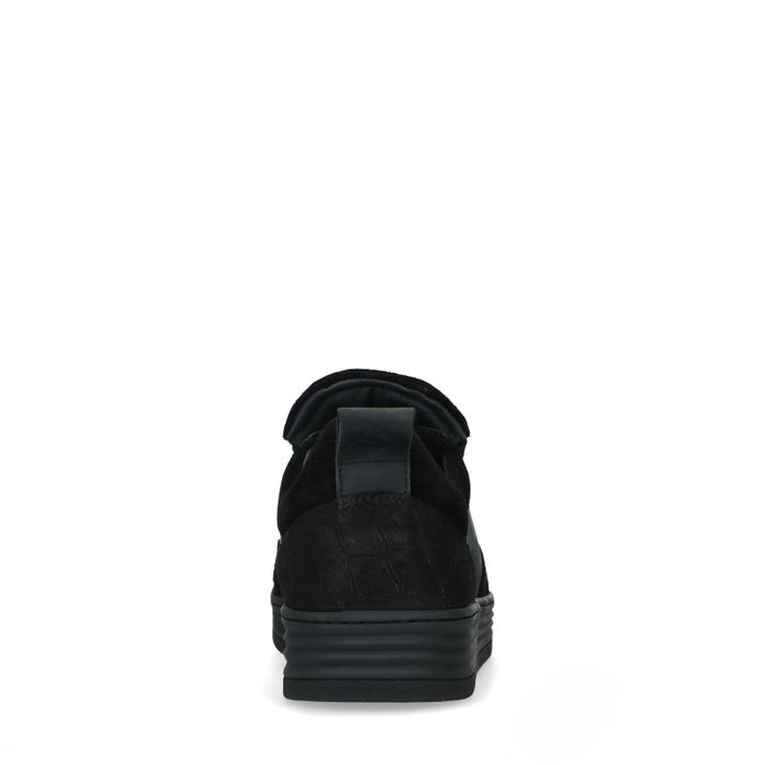 Schwarze Veloursleder-Sneaker