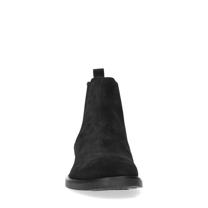Schwarze Chelsea Boots aus Veloursleder