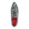 Veloursleder-Schnürschuhe mit Zebramuster
