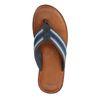 Blaue Sandalen mit Streifen