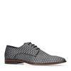 Chaussures à lacets en cuir avec motif losange - argenté