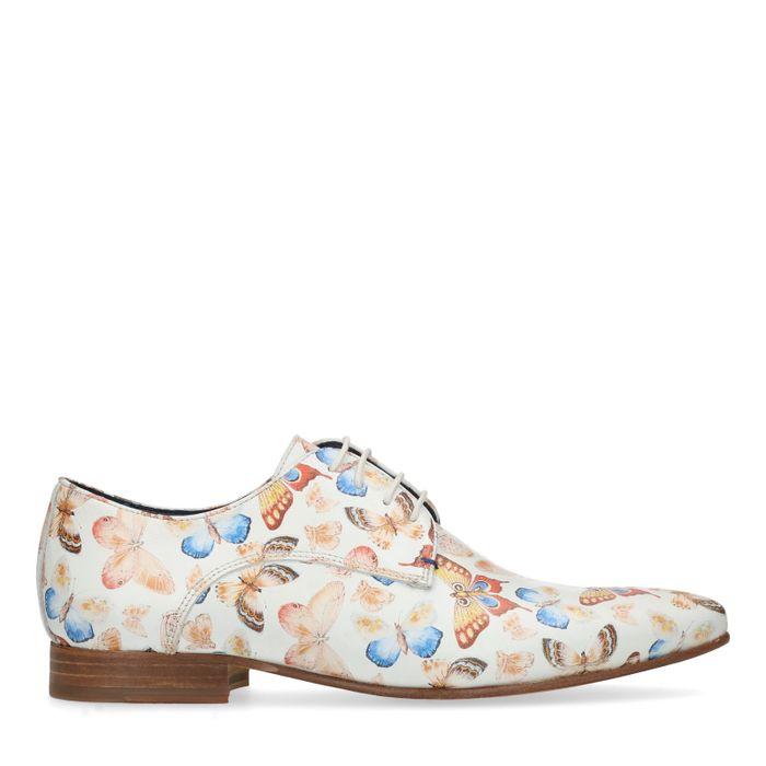 Chaussures à lacets en cuir avec papillons