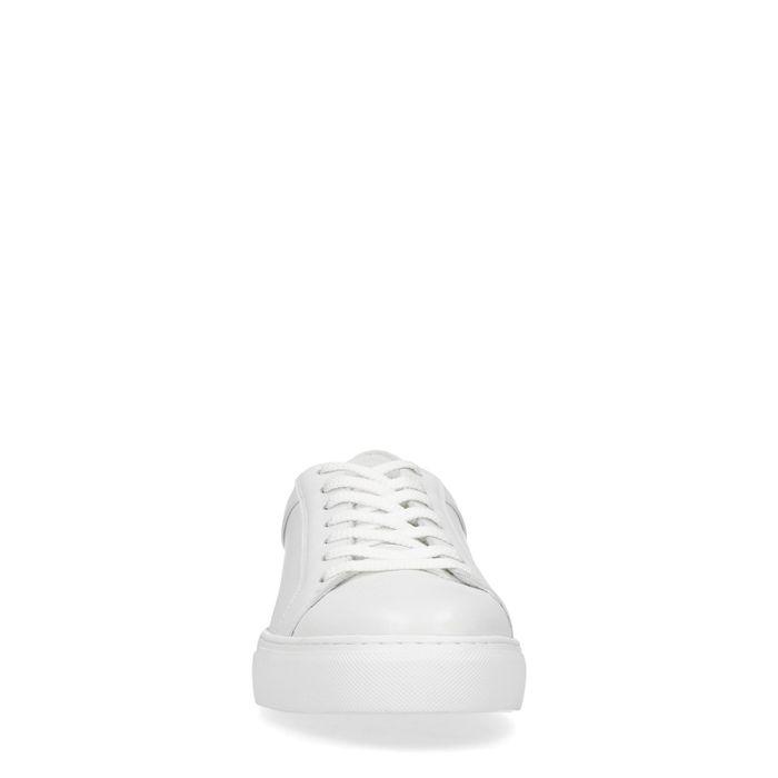 Baskets basses en cuir - blanc