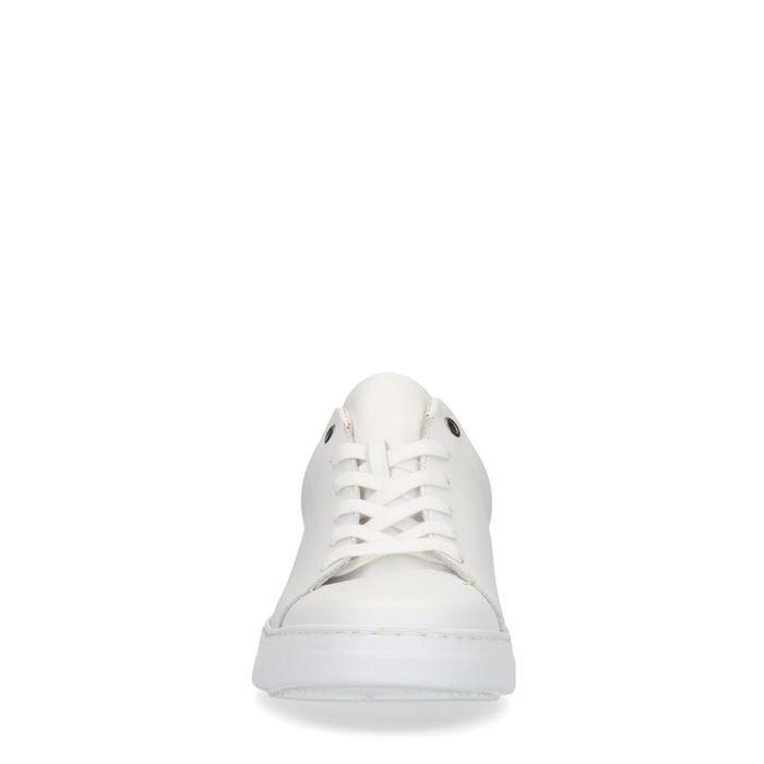 Baskets en cuir avec détail - blanc
