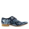 Chaussures à lacets à imprimé croco - bleu