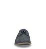 Chaussures à lacets en cuir avec motif - bleu foncé