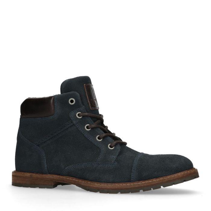 Boots à lacets - bleu foncé