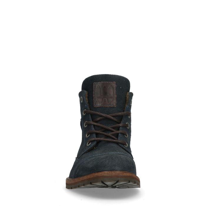 Boots à lacets en cuir - bleu foncé