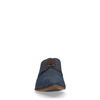 Chaussures à lacets en cuir avec imprimé fleuri - bleu foncé